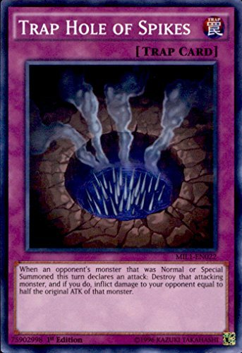 (Yu-Gi-Oh! - Trap Hole of Spikes MIL1-EN022 Super Rare 1st Edition )