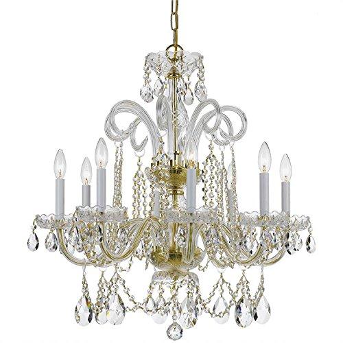 8 Light Chandelier with Swarovski Strass Crystal Finish: Polished Brass ()