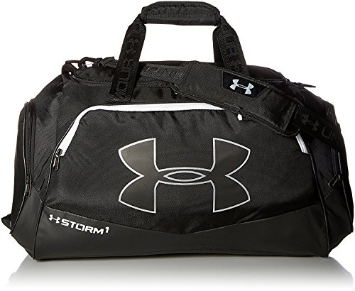 Under Armour Undeniable Duffle 2.0 Gym Bag, Black /White, Medium