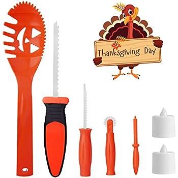 pumpkin carving tools for kids. skinosm thanksgiving pumpkin carving kit for kids 5 easy halloween tools set 2 led