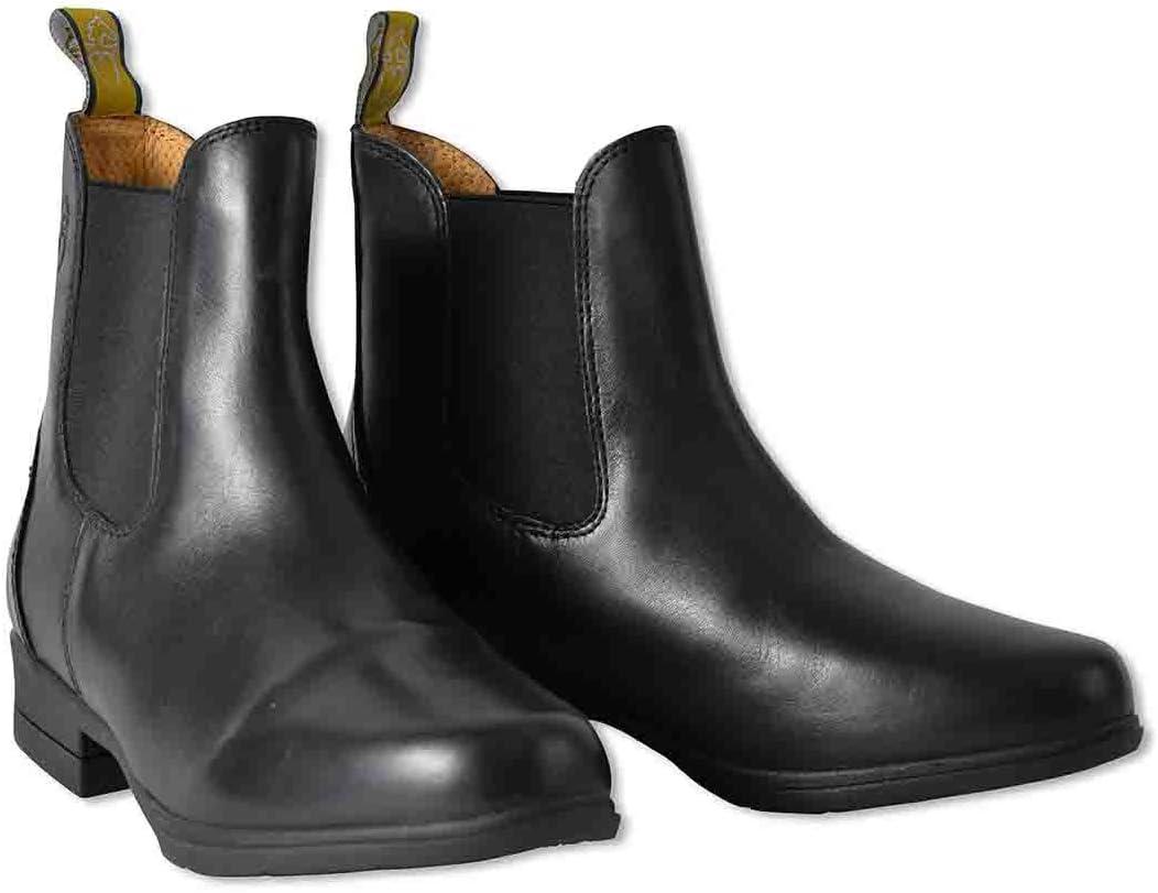 乗馬 ブーツ ショートブーツ MORETTA ルッキア 本革 ライディング ショートブーツ 乗馬用品 馬具 ブラック UK2