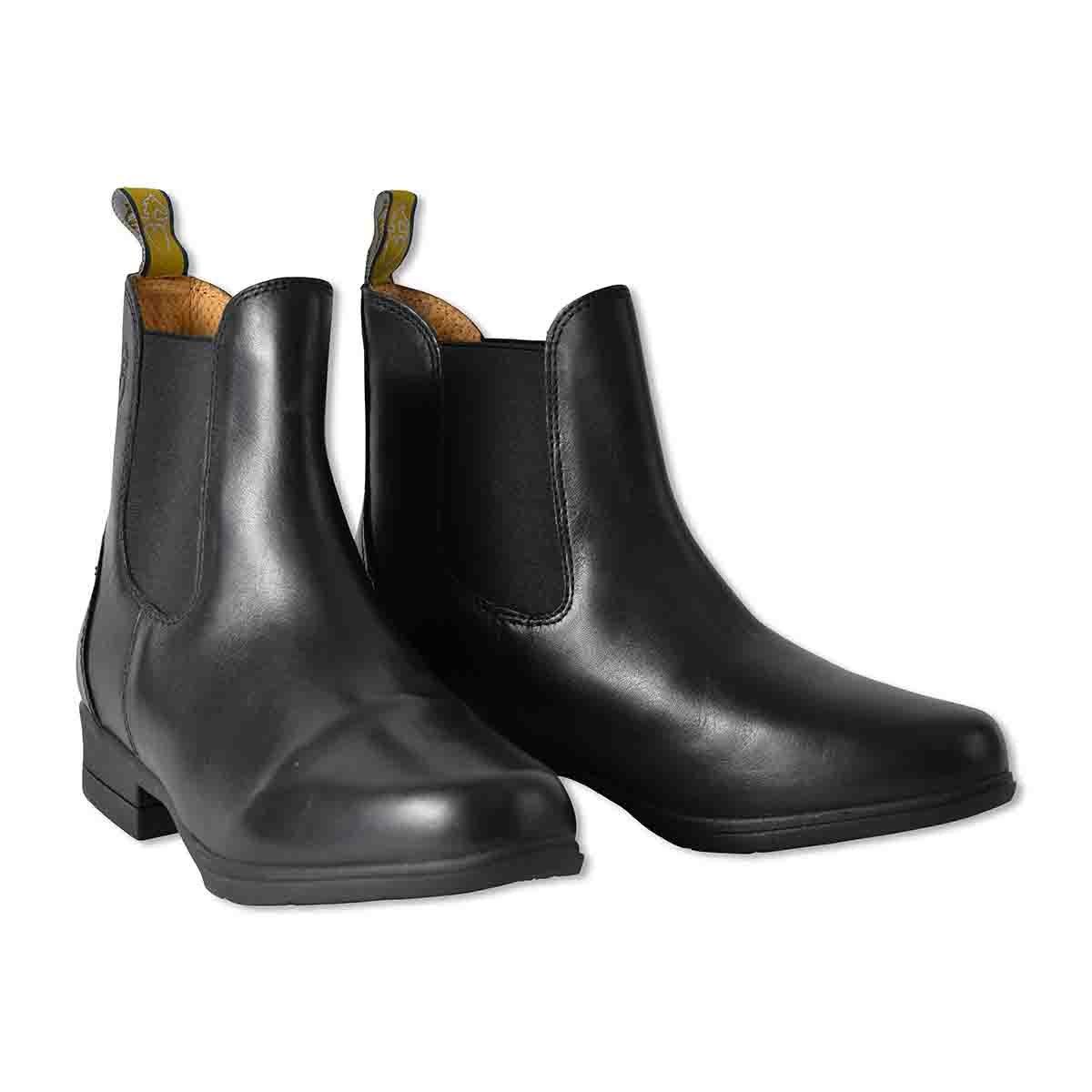 乗馬用品 MORETTA ルッキア 本革 ライディング ショートブーツ ブラック 乗馬 馬具 ブラック UK2