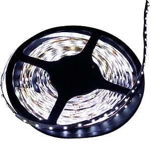 oupai 12V/5M 3528300LEDs Flexible tira LED luces flexible para fiestas (blanco)
