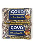 Goya Dried 16 Bean Soup Mix, 16 Oz. Bags (Set of 2)