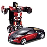 Toyshine Rechargeable Robot Remote Control Toy Converts Into A Car( Color May Vary)