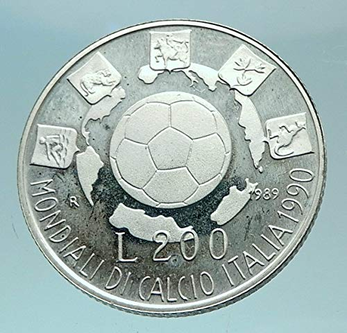 - 1989 IT 1989 ITALY Soccer Football Genuine World Cup AR 2 coin Good Uncertified