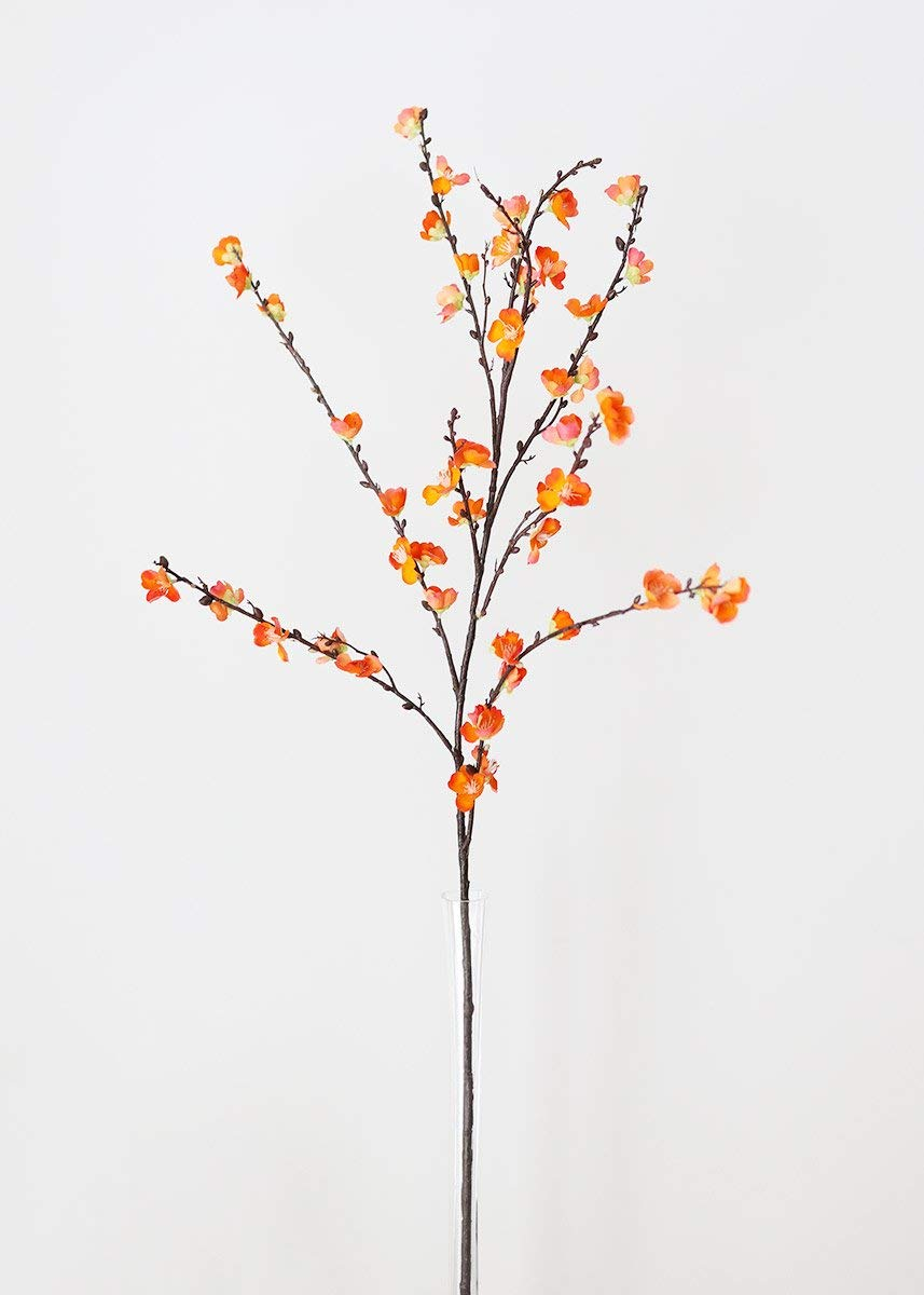 人工桜 オレンジ 高さ50インチ B07B41VRR1