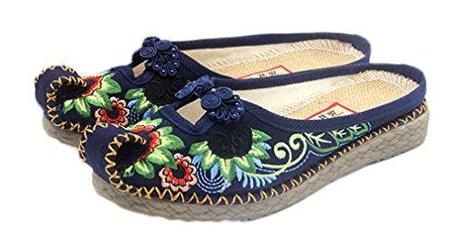 Soojun Women's New Exotic Embroidery Aladdin Mule Slipper, US 6, (Aladdin Shoes Womens)
