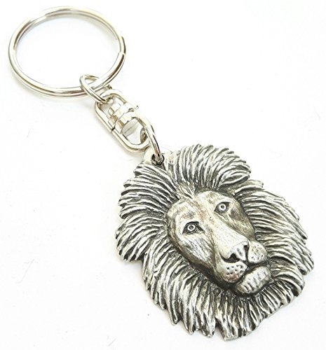 Fine Pewter Lion Keychain with Gift Pouch ()