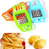 Ainest Stainless Steel Potatoes Cutter Cut Into Strips French Fries Kitchen Gadgets Hot