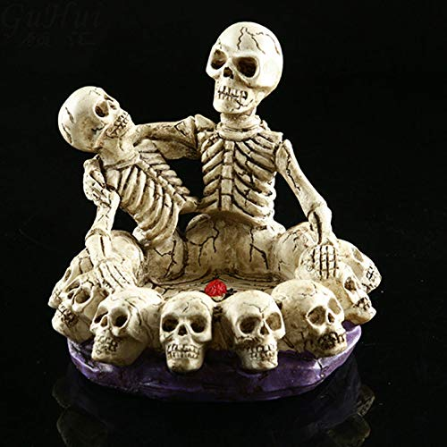 SaveStore Horror Home Table Grade Decorative Craft Human Horror Resin Skull Bone Skeletons Halloween Party Decoration Skeleton Ornaments -