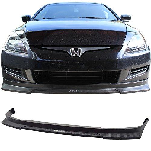 Front Bumper Lip Fits 2003-2005 Honda Accord 2Dr | HC1 Style Matte Black PP Carbon Fiber Texture Lip Spoiler Air Dam Chin Diffuser by IKON MOTORSPORTS | 2004 - Honda Accord 2dr Carbon Fiber