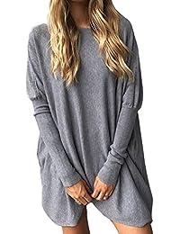 Shinekoo Women's Casual Loose Long Sleeve Baggy Tops Blouse Shirt Dress Pullover