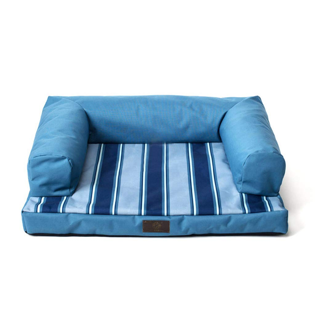 bluee Orthopaedic Dog Bed Relaxing Sofa Memory Foam Helps To Predect Joints And Promotes Restful Sleep (color   bluee)