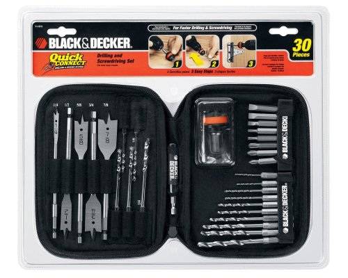 Black & Decker 71-973 Quick Connect Drilling and Screwdriving Set, 30-Piece Black & Decker Screwdriver Bit