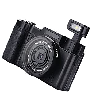 Duoying Digital Camera Digital Video Professional 4X Zoom Black Support SD Card Recorder