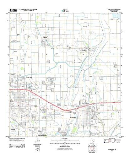 Topographic Map Poster - MERCEDES, TX TNM GEOPDF 7.5X7.5 GRID 24000-SCALE TM 2010 16