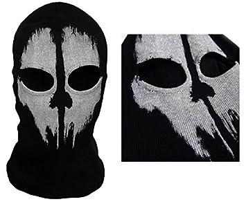 Matanza de 2 agujero, lana Zorro Ninja, disfraz 1 tamaño Senior, pasamontañas
