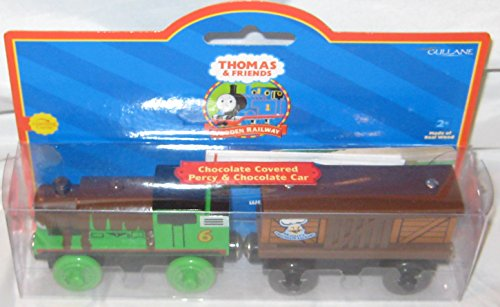 Thomas & Friends Learning Curve Wooden Railway - Chocolate Covered Percy & Chocolate Car