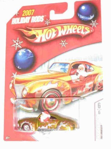 Hot Wheels 2007 Holiday Rods Santa in Tail Dragger 6 of 6