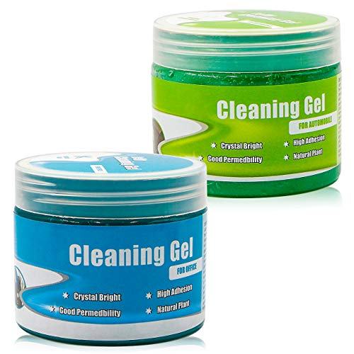 Universal Cleaning Gel for Car Vents, Keyboards,Car Interiors,Home, Electronics Remove Dust Cleaning Gel 2Pcs(Blue-Green)