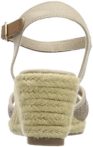 Tom Tailor 4890906, Sandales Bride Cheville Femme Beige