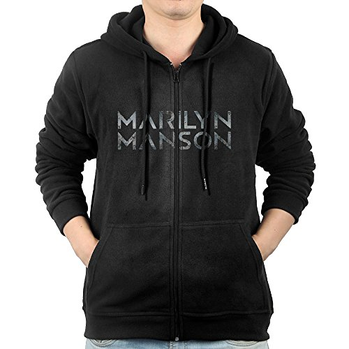 Akagopstore Casual Mens POP SINGER MARILYN MANSON Full-Zip Sweatshirt Hoodie Jacket X-Large Seersucker Zip Jacket