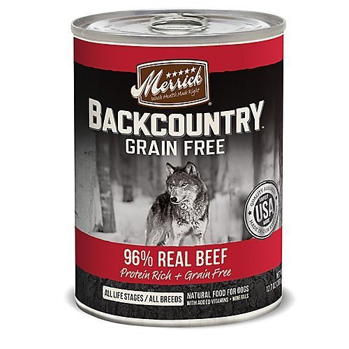 Merrick Backcountry 96 Real Beef Can Dog Food by Merrick by Merrick
