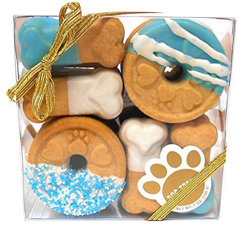 Claudia'S Canine Cuisine Signature Gift Box Of Dog Cookies, 7-Ounce, Blue Buddies ()