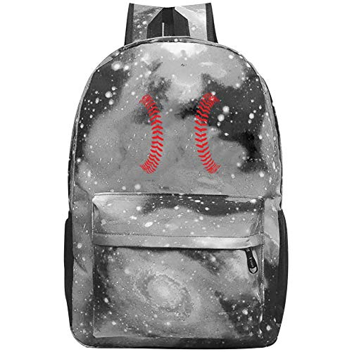 XKSJSB Baseball Has Me in Stitches Galaxy Laptop Backpack, Star Water Resistant College Students Travel Computer Notebooks Backpack for Men Women Gray