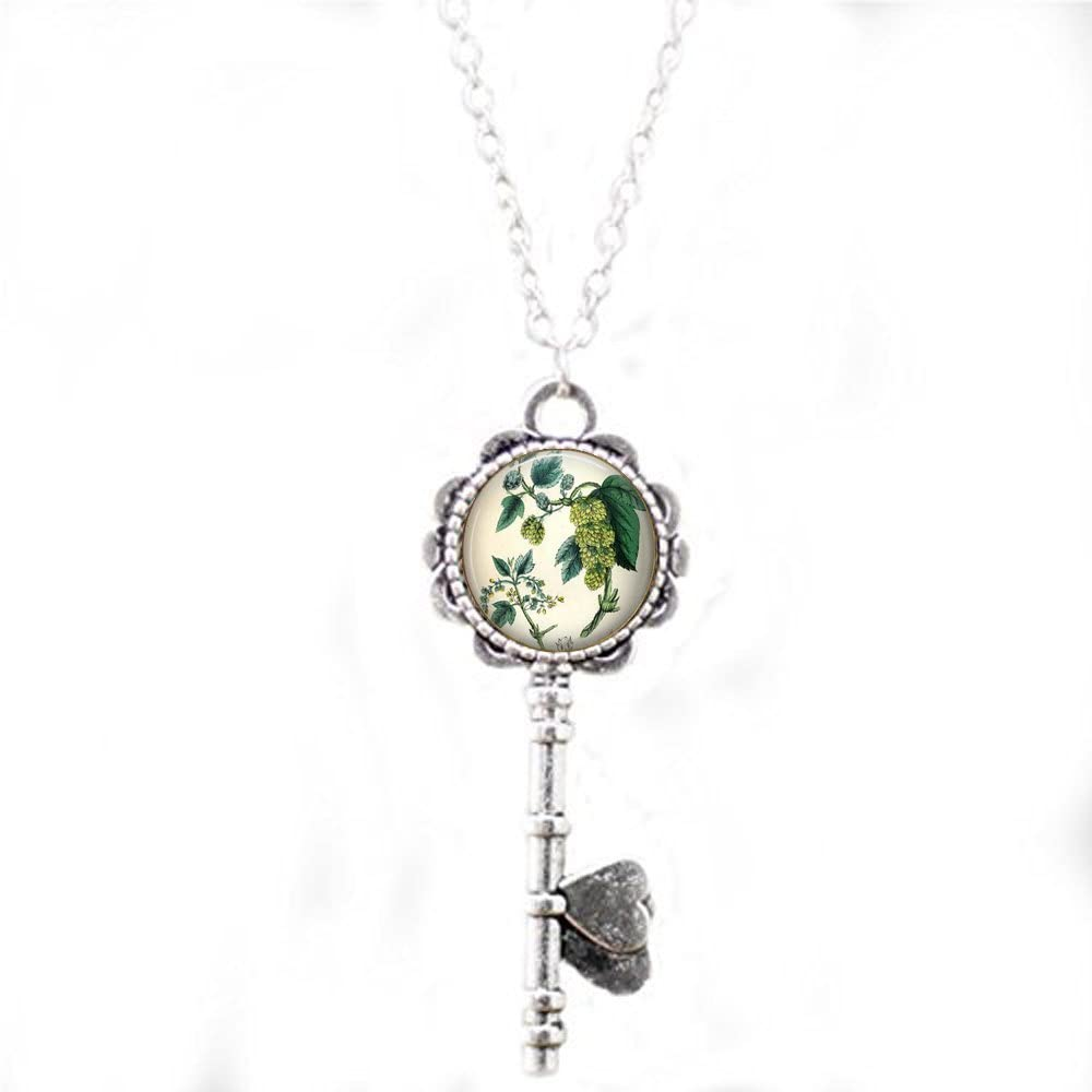 Arthwick Store Image of a Stein of Brewed Beer with Hops Oktoberfest Pendant Necklace