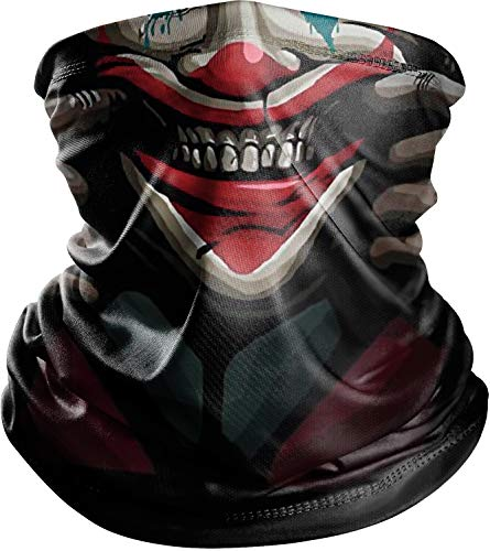 Cooling Neck Gaiter for Men Sport Mask, Black Joker Face Mask, Cloth Designer Face Mask Scarf for Fishing Ski, Face Bandana Mask for Women Balaclava, Sun Protection Face Sleeve