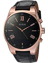 Men's Stainless Steel Connect Smart Watch - Amazon Alexa, iOS and Android Compatible, Color: Black (Model: C0002MB3)