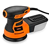 Anesty Random Orbit Sander, 5'' Electric Sander Palm Sander with Variable Speed, Filtering Dust