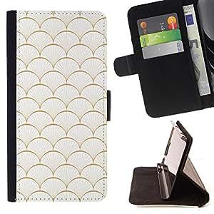 - Scaled Pearl Seashell Pattern - Estilo PU billetera de cuero del soporte del tir???¡¯???3n [solapa de cierre] Cubierta- For Samsung Galaxy S5 Mini, SM-G800 ( Devil Case )