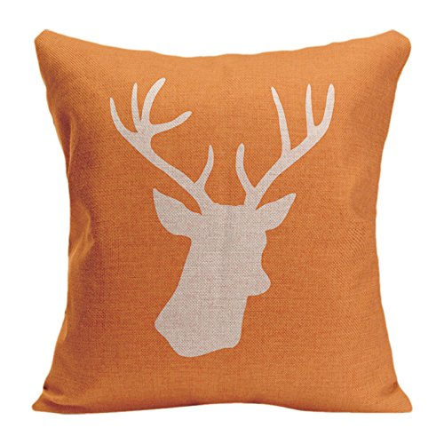 Skull Head Printed Pillow Cover Cotton Linen Cushion Case - 4