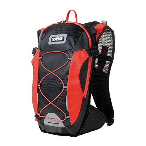 Wag Rucksack 14L mit Trinksystem 1,5l schwarz/rot (Rucksäcke und Taschen)/Backpack 14L with Water Bag 1,5l Black/Red (Backpacks and Bags)
