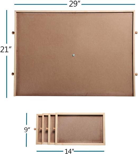 Rompecabezas portátil de tamaño de soporte de madera con ...