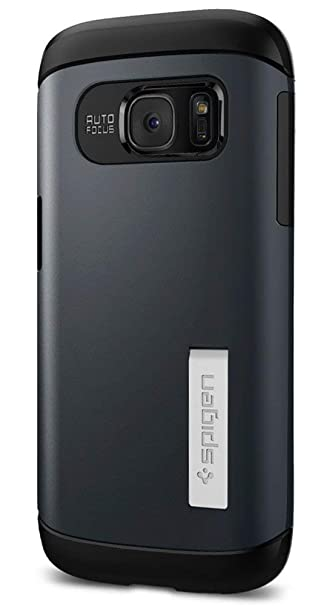 promo code d6fff dcafd Spigen Slim Armor Galaxy S7 Case with Kickstand and Air Cushion Technology  and Hybrid Drop Protection for Samsung Galaxy S7 2016 - Metal Slate