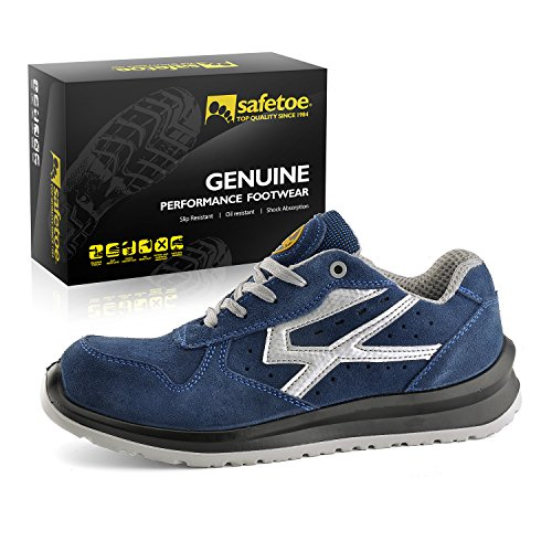 Sport Shoes Lightweight SAFETOE Safety Composite Blue Work Toe Shoes Men's wqxROxnIa