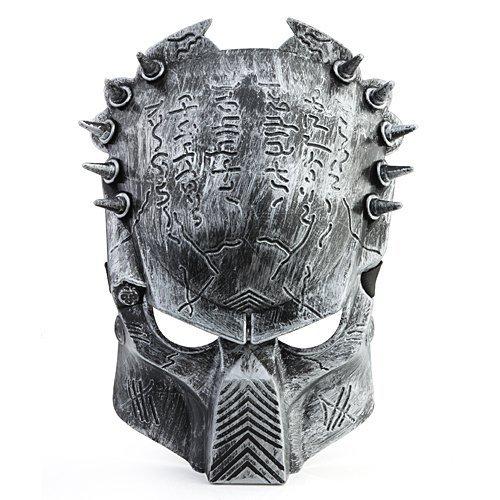 PREDATOR ALIEN Softair Maske Totenkopf Schädel Vollschutzmaske Silber Militär Paintball Horror thematys®
