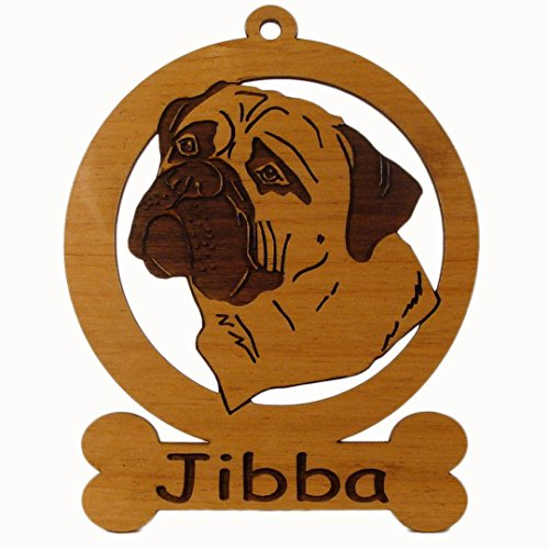 Mastiff Dog Ornament - Bull Mastiff Head 2 Ornament 082020 Personalized With Your Dog's Name