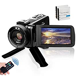 Video Camera Camcorder, Digital YouTube Vlogging Camera FHD 1080P 30FPS 24MP 16X Digital Zoom 3 Inch Touch Screen Video…