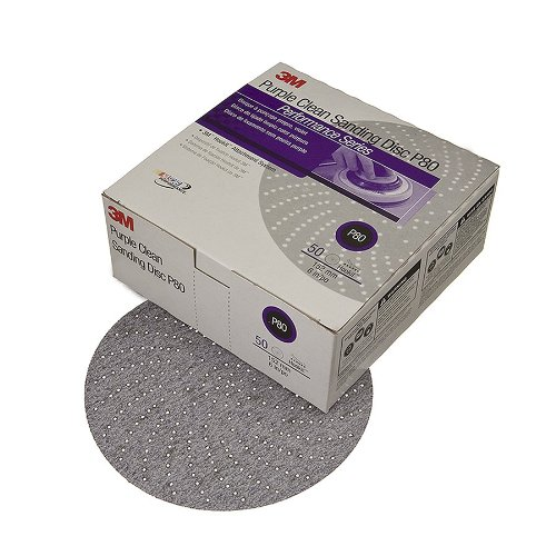 3M 01810 Hookit Purple 6'' P500C Grit 334U Clean Sanding Disc