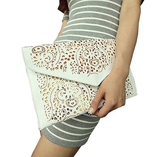 Top Shop Womens Envelope Chain Totes Messenger Shoulder Bags Handbags Hobos White Clutches