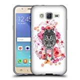 Official Monika Strigel Wolf Animals And Flowers Soft Gel Case for Samsung Galaxy J5 / J500