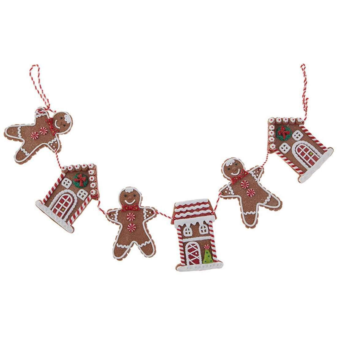 "RAZ Imports Raz 30"" Gingerbread Cookie Christmas Garland G3816442"