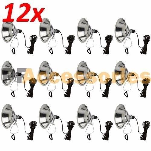 12 Pcs Heavy Duty 8-1/2 Aluminum Reflector Shade Clamp on Work Light Lamp ETL by Generic (Image #8)