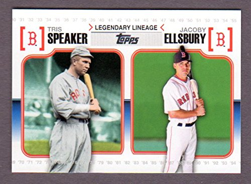 Tris Speaker / Jacob Ellsbury 2010 Topps Baseball (Legendary Lineage) (Red - San Tri Club Diego