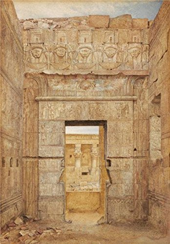 The High Quality Polyster Canvas Of Oil Painting 'Henry Roderick Newman,Room Of Tiberius,Temple Of Isis,Philae,about 1894' ,size: 8x11 Inch / 20x29 Cm ,this Cheap But High Quality Art Decorative Art Decorative Canvas Prints Is Fit For Laundry Room Decoration And Home Decor And Gifts - Isis Daisy